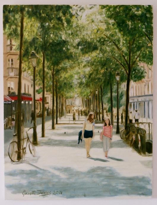 Beneath the trees in Paris