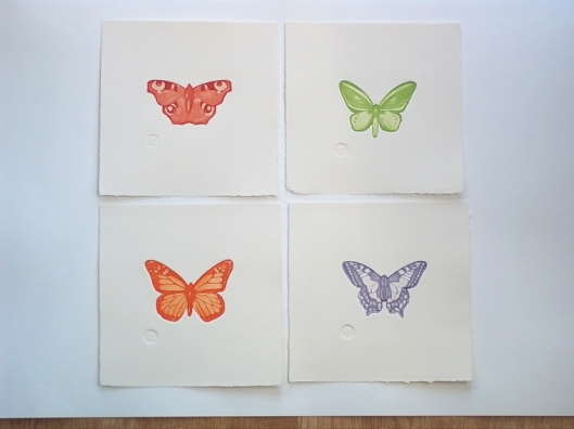 Single butterflies